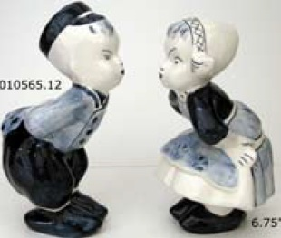 "DeWit Delft 6.75"" Kissing Children (010565.12)"