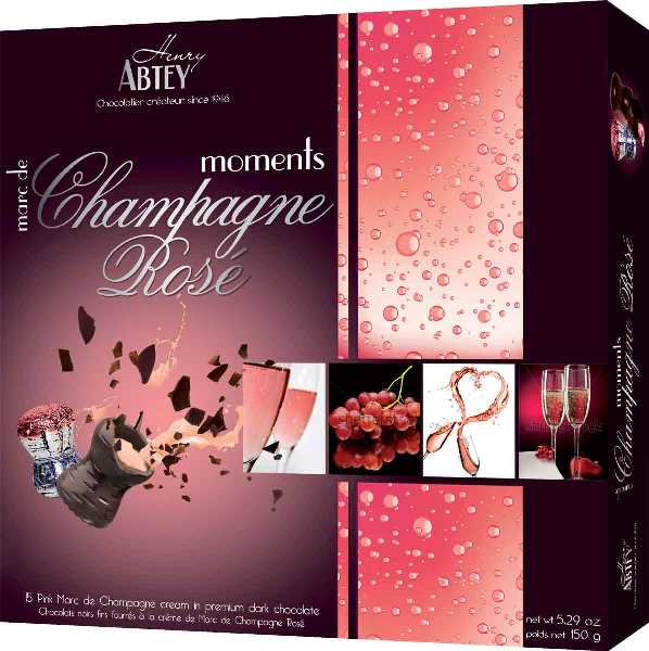 Abtey Moments Champagne Rose Choc (ALCOHOL) 21+ only
