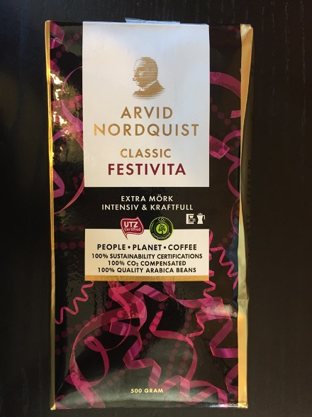 Arvid Nordquist Ground Coffee - Festivita, Extra dark roast (SEL