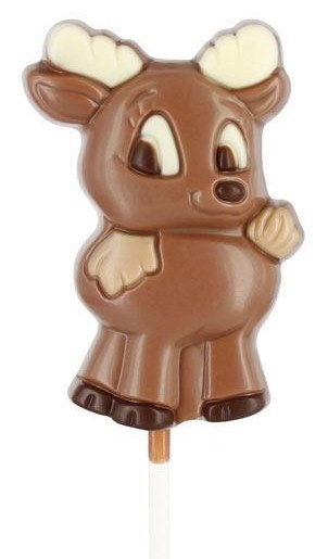*Belfine Reindeer Reni Lollipop milk choc (4 LEFT)