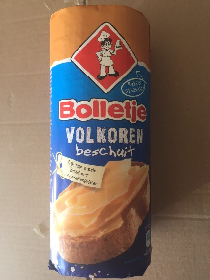 Bolletje Crispbakes Rusk Volkoren/Wholewheat (blue/orange)