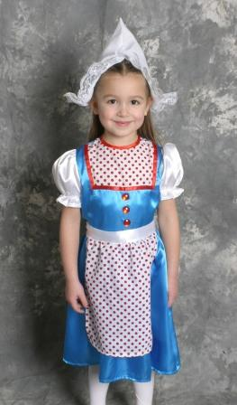 Dutch Girl Costume (ages 3-6)