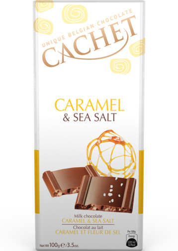Cachet Caramel & Sea Salt Milk Chocolate