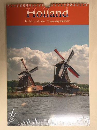 Birthday Calendar- Dutch Scenery (OUT OF STOCK)