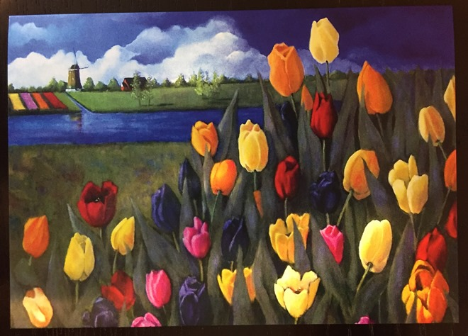 Card Tulips w Dutch Landscape