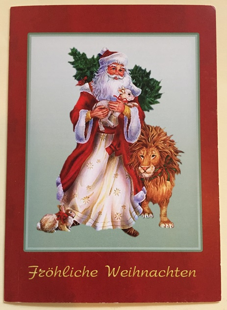 Z German Christmas Card (OUT OF STOCK)