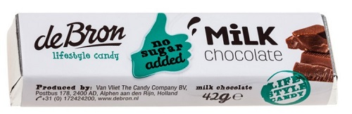 De Bron Sugar Free Milk Chocolate Bar (PRE-ORDER)
