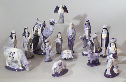 Z * DeWit Delft 16 Piece Nativity Set (011546.12)