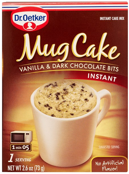 Dr. Oetker Vanilla & Dark Chocolate Bits Mug Cake Mix (2 LEFT)