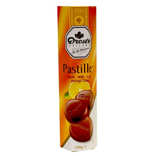 Droste Milk/Orange Crisp Choc Pastilles