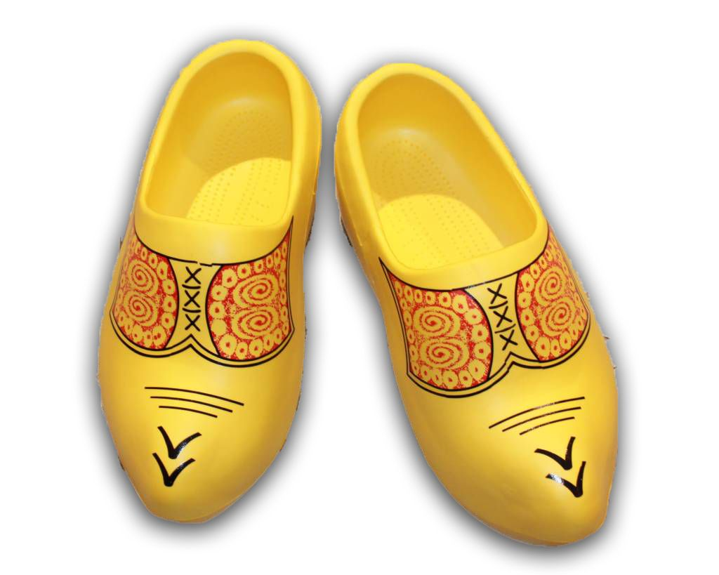 Dutch Rubber Garden Clogs - Farmer's Yellow