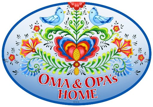 Oma and Opa's Home Door sign - Love birds
