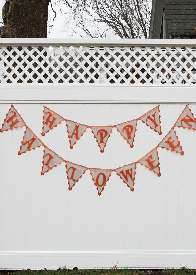 Frightful Happy Halloween Pennant Banner (2 LEFT)