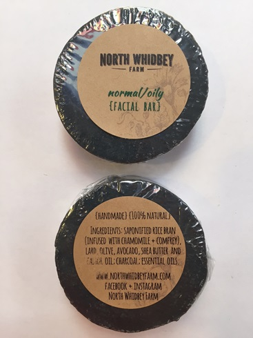 NorthWhidbey Farm Goat Milk Facial Bar - Black Charcoal (2 LEFT)