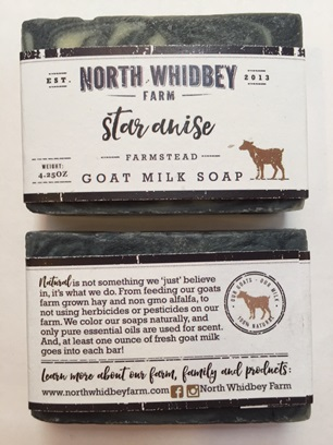 NorthWhidbey Farm Goat Soap - Star Anise