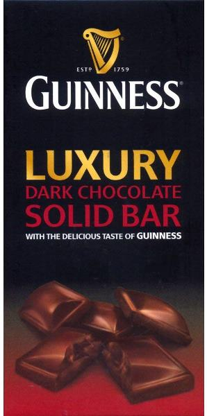 *Guinness Dark Chocolate Bar (ALCOHOL) (SELL-BY NOVEMBER 2018)