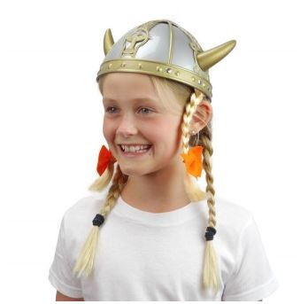 Viking Oktoberfest Hat with braids (ONLY 1 LEFT)