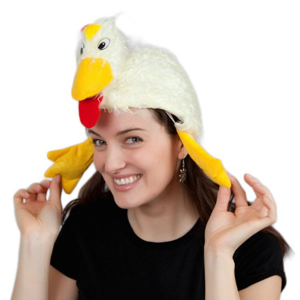 Rooster Chicken Dance Oktoberfest Party Hat