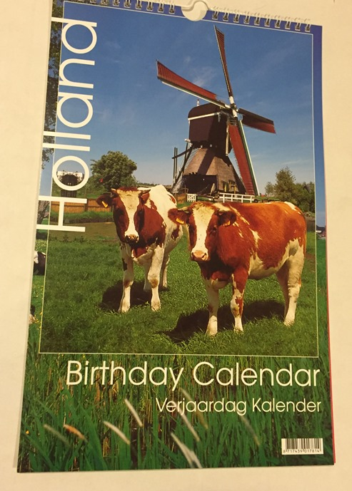 Holland Birthday Calendar/Verjaardag Kalendar (cow)