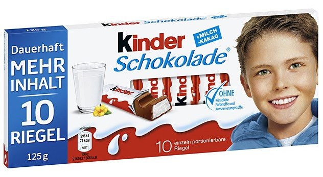 Kinder Germany Bar - 10 pack (OUT OF STOCK)