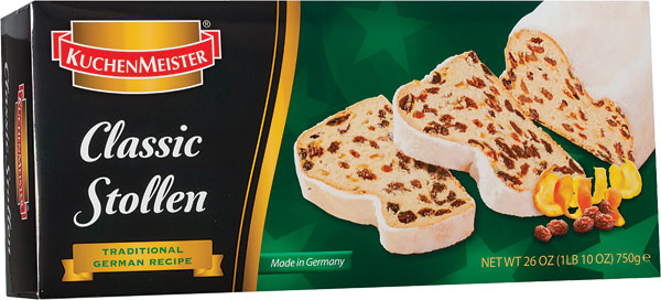 *Kuchenmeister Classic/Christmas Stollen 17.6 oz (PRE-ORDER)