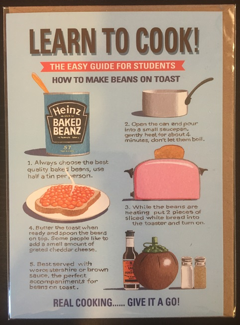 Learn To Cook Easy Guide Beans on Toast Card