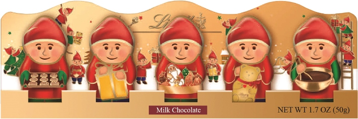 Lindt Milk Chocolate Christmas Elf 5pk (ONLY 3 LEFT)