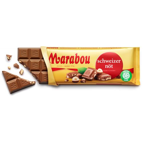 Marabou Schweizernöt (Swiss Nut) Choklad EXP. 02 APRIL 2017