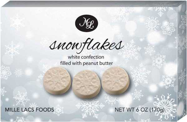 Mille Lac White Snowflakes w Peanut Butter (6 LEFT)