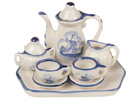 Blue and White Mini Child Tea Set