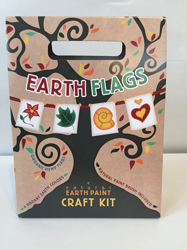 Natural Earth Flags Craft Kit (Organic, Eco-Friendly)