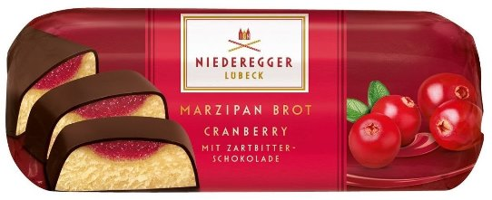 *Niederegger Dark Choc Covered Marzipan Cranberry