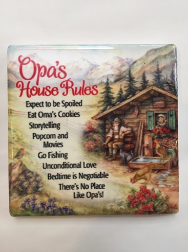 z-Opa's House Rules Magnet (ONLY 1 LEFT)