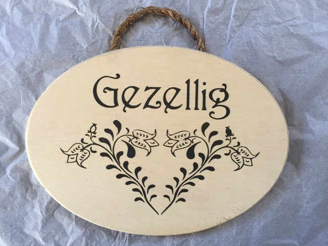 *Gezellig Home sign (3 LEFT)