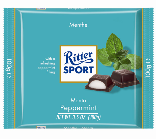 Ritter Sport Dark Chocolate w/ Peppermint