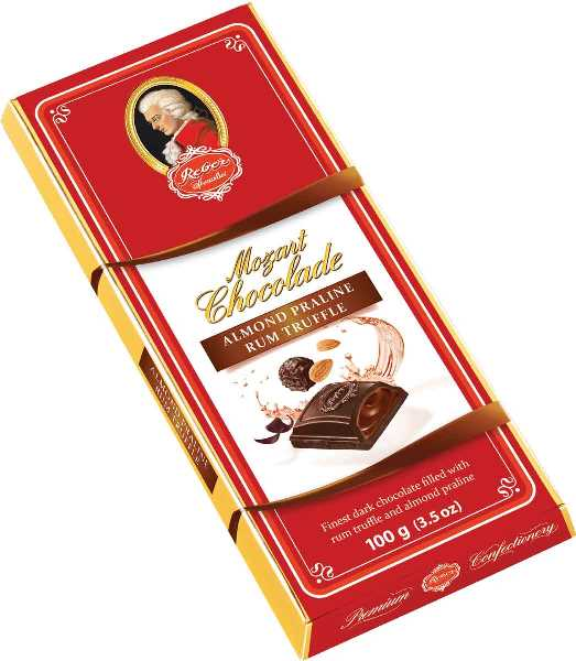 Reber Almond Praline Rum Truffle Dark Bar