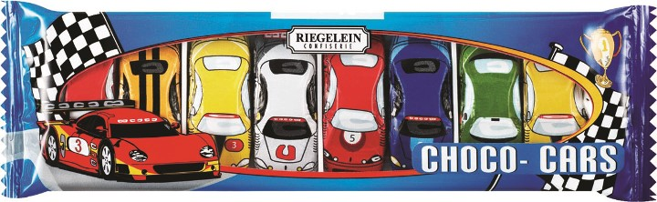 Riegelein Solid Chocolate Cars (8 pack)