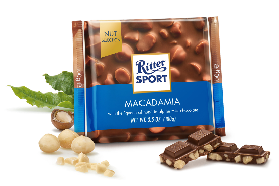 Ritter Sport Milk Choc w Macadamia (OUT OF STOCK)