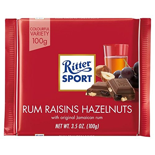 Ritter MilkChoc Rum Raisins Hazelnuts (ALCOHOL)21+ (OUT OF STOCK