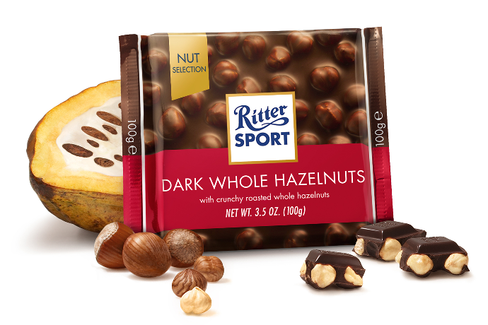 Ritter Sport Dark Choc w Whole Hazelnuts