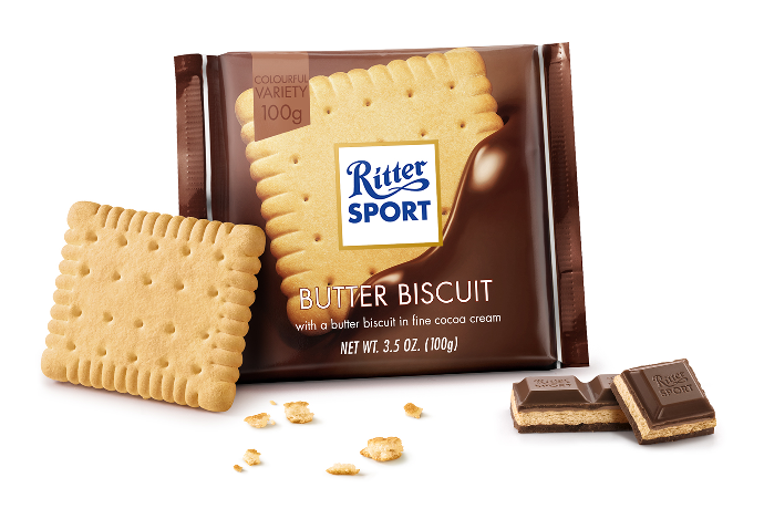 Ritter Sport Milk Chocolate Butter Biscuit