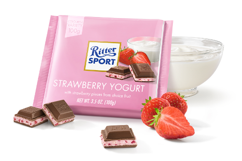 *Ritter Sport Milk Choc Strawberry Cream/Yoghurt