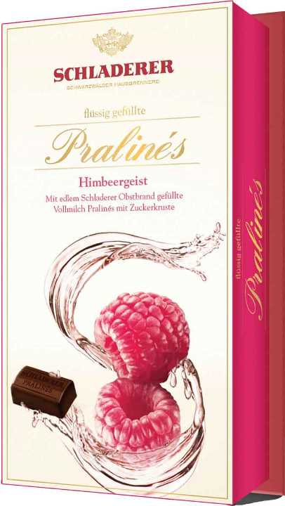 Schladerer Raspberry Brandy pralines (ALCOHOL) (SELLBY AUG18)(5L