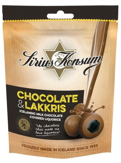 Sirius Konsum Icelandic Milk Choc covered licorice