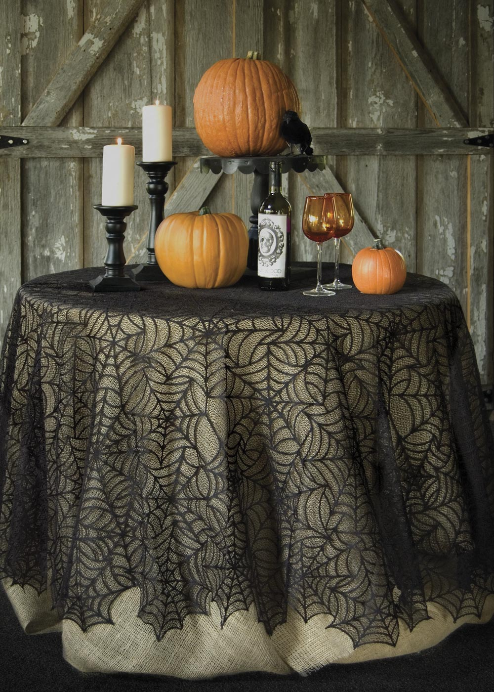 Spider Web Round Tablecloth 90