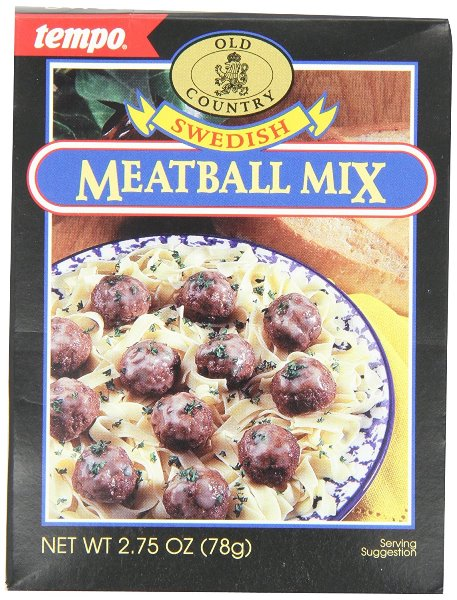 Tempo Swedish Meatball Mix (SELL-BY DATE JUNE 2017)