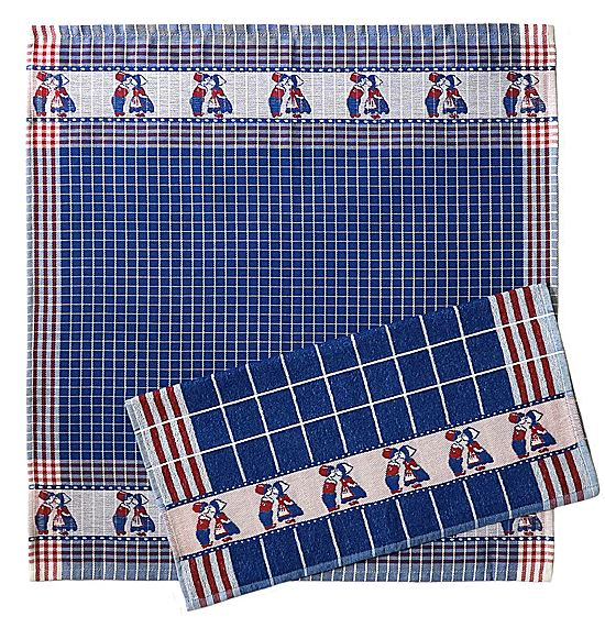 Tea Towel - Kissing Couple, Blue