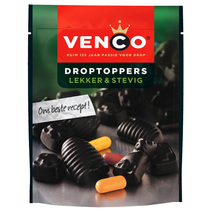 Venco Droptoppers Lekker & Stevig (Sweet, firm)