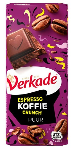 Verkade Espresso Coffee Crunch Dark Choc Bar