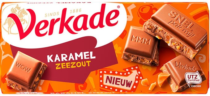 Verkade Milk Choc Caramel Sea Salt Bar 3.9oz (5 LEFT)
